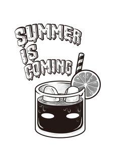 Summer is coming! - RabbitPoop Black Cup Coke Tattoo Illustration