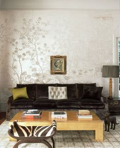 silvery chinoiserie