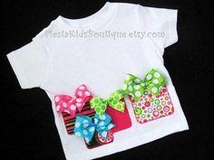 Birthday girl tshirt in preppy colors Girls by FiestaKidsBoutique