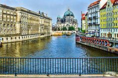 A Canal on the River Spree, Berlin, Germany