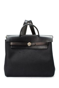 Vintage Hermes Cotton Her Bag Square H Handbag @Pascale Lemay De Groof