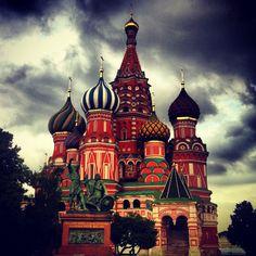 Russia: Moscow: Красная площадь / Red Square, St.Basils Cathedral, Kremlin, Lenin Mausoleum.