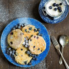 For an interesting spin on an american style pancake try this Blueberry And Ricotta Pancakes Recipe. Really yummy served with a spoonful of creme fraiche! Blueberry Ricotta Pancakes, American Style Pancakes, How To Make Pancakes, Pancake Day, Food Reviews, Breakfast Recipes, Pancake Recipes, Food Inspiration, A Table