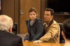Still of Matthew McConaughey and Mackenzie Foy in Interstellar (2014)