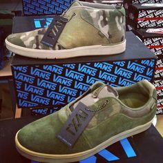 LXVI camo pack. Vet? #new #vans #LXVI #vans66 #sneakers #skate #camo #camopack #secant #numeral #spring #streetwear #gobritain