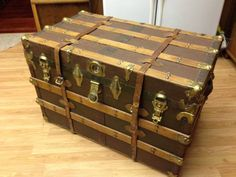 Large Brown Storage Trunk