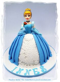 Cinderella... A Rose For The Belle Of The Ball! - by paulinescakes @ CakesDecor.com - cake decorating website