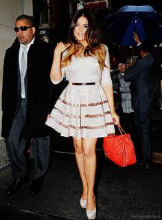 khloe kardashian: pretty dress & red chanel