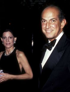 Annette Reed and Oscar de la Renta, 1983 At Screening Party for 'Doonesbury'  Photo: Ron Galella, Ltd./WireImage  #LatinoHeritageLA #tbt