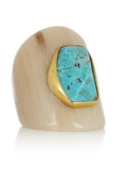 Ashley Pittman Mbaya horn and turquoise ring NET-A-PORTER.COM