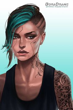 Fragments of a Hologram Dystopia – Cyberpunk Gallery Cyberpunk Girl, Arte Cyberpunk, Cyberpunk 2077, Female Character Design, Character Design Inspiration, Character Art, High Fantasy, Fantasy Art, Science Fiction