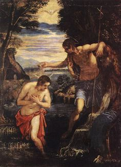 Baptism of Christ : TINTORETTO