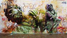 Street Art et Dieux Grecs – Une superbe création réalisée sur des containers par Pichi et Avo (image)