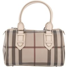 BURBERRY BRIT checked bag ($705) ❤ liked on Polyvore featuring bags, handbags, burberry, women, burberry bags, pink bag, zip top bag and checked bags