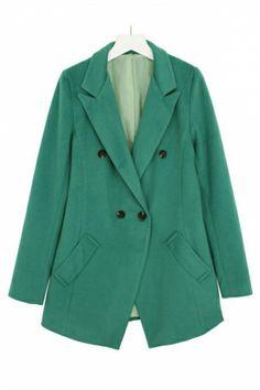 { Green Trench Coat }