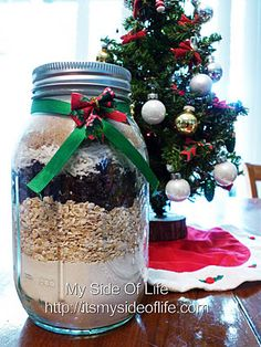 Oatmeal Raisin Cookie Mix, great holiday gift in a jar