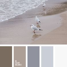 The perfect palette for bedroom design. Also this palette will fit well in the interior of a nursery. Paint Color Palettes, Colour Pallette, Colour Schemes, Paint Colors, Grey And Beige, Beige Color, Cream Colour, Gray Brown Paint, Colour Colour
