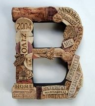 Great idea for all of the wine corks!