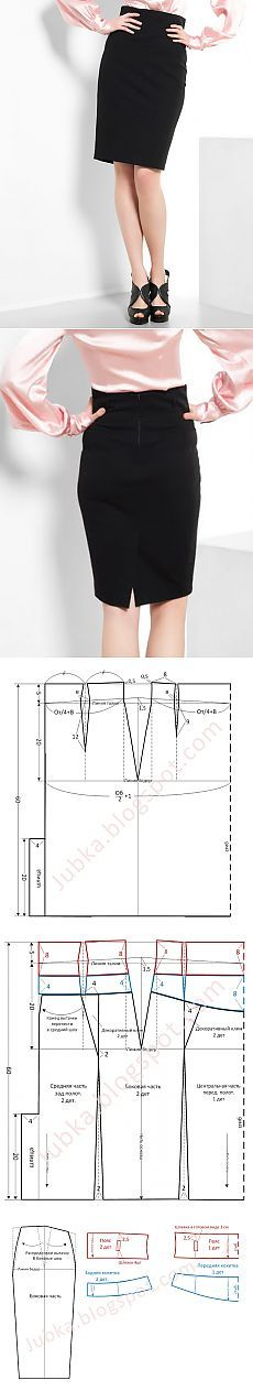 Trendy Skirts. Sew yourself .: pencil skirt with high belt