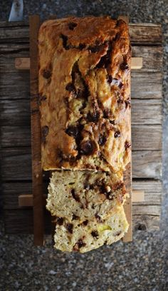 cinnamon chocolate chip coconut banana bread