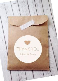 Custom Wedding Favor Bags, Simple, Modern, Clean, Unique Bridal Favors, Candy Bar, Cookie Buffet, Confetti or Coffee Favor Bags