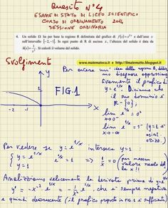 ESERCIZIO SVOLTO DI MATEMATICA(ESAME DI STATO DI LICEO SCIENTIFICO, 2014)