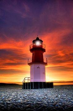 Sunset lighthouse - Isle of Man