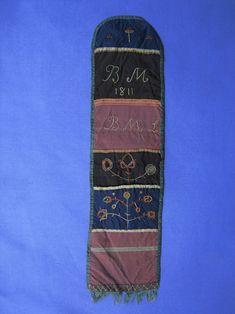 Silk decorated needlecase, Felty family, Millersville, Pennsylvana, 1811. 17 x 4.5 inches.