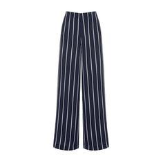 Warehouse Warehouse Stripe Trousers Size 6 ($68) ❤ liked on Polyvore featuring pants, black stripe, stripe pants, high waisted trousers, striped trousers, highwaist pants and high-waist trousers