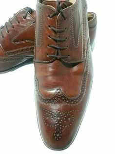 Lloyd Lador WingTtip Leather Oxford Shoes Size Made Germany Calf Leather, Leather Shoulder Bag, Leather Shoes, Brown Leather, Formal Smart Casual, Tassel Loafers, Oxfords, Professional Shoes, Mules Shoes
