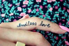 Endless love ring fingure