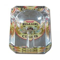 One Small Cigar Crystal Ashtray