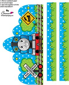 Thomas the Tank Engine printables, print invitations, bookmarks, Thomas the Tank coloring pages and more. Thomas Birthday Parties, Thomas The Train Birthday Party, Trains Birthday Party, 3rd Birthday, Happy Birthday, Train Coloring Pages, Crown For Kids, Crown Party, Toy Story Party