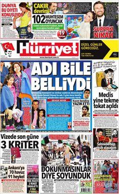 #20160503 #TürkeyHABER #TURKEY #TurkeyNEWSpapers20160503 Tuesday MAY 03 2016 http://en.kiosko.net/tr/2016-05-03/ + http://www.trthaber.com/foto-galeri/gazete-mansetleri-3-mayis-2016/10330/sayfa-4.html + #Hürriyet20160503 http://en.kiosko.net/tr/2016-05-03/np/hurriyet.html