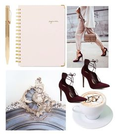 """""""Meeting in Paris"""" by tenindvr ❤ liked on Polyvore featuring ALDO and Sugar Paper"""