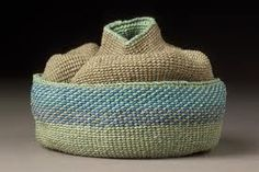 Lois Russell - beautiful moving basket made with waxed linen twining