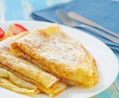 Easy Crepe Recipe, Crepe Recipes, Milk Recipes, Brunch Recipes, Breakfast Crepes, Paleo Breakfast, Mediterranean Desserts, Vegan Crepes, French Crepes