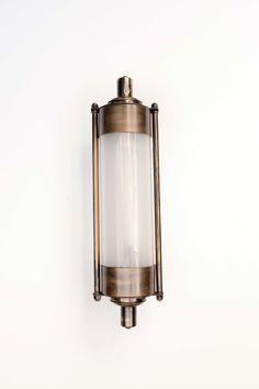 Aplique metal tubo cilíndrico simil latón envejecido