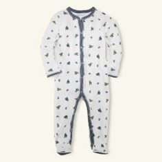 Bear-Print Coverall - Baby Boy All-in-ones - Ralph Lauren UK