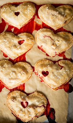 Mini heart-shaped pies for your sweetie pie.
