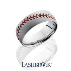 Lashbrook Baseball Wedding Band for Men