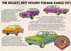 Holden Torana 1972 - When you're hot, you're hot Australian Cars, Australian Homes, Australian Vintage, Holden Torana, Period Color, Holden Australia, Aussie Muscle Cars, You're Hot, Car Advertising