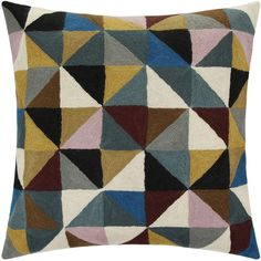 Niki Jones Harlequin Cushion - 50x50cm (175 CAD) ❤ liked on Polyvore featuring home, home decor, throw pillows, multi, niki jones, geometric pattern throw pillows, patterned throw pillows, black and white geometric throw pillows and diamond home decor