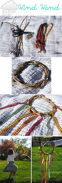 I LOVE THIS Wind Wand by ellenquist22, via Flickr Pagan Witch children craft inspiration