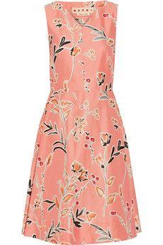 Marni Floral-print cotton and silk-blend dress | NET-A-PORTER