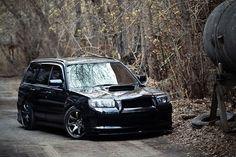 Flushed Subaru Forester