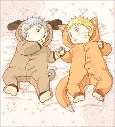 Tags: Anime, Pixiv Id 2111789, NARUTO, Hatake Kakashi, Uzumaki Naruto, Baby