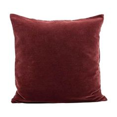 Velv cushion cover from House Doctor. The cushion cover is made of cotton and has a deep red colour that creates an exclusive expression. The soft velvet material gives a nice and personal look to a bright and Nordic home.