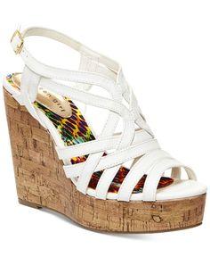 Madden Girl Enroll Platform Wedge Sandals