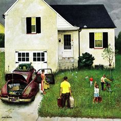 Marmont Hill - 'Home from Vacation' by John Falter Painting Print on